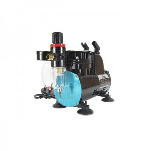 Badger 1000 Low Noise Airbrush Compressor with Auto Shut-off and Pressure Gauge - BA1000