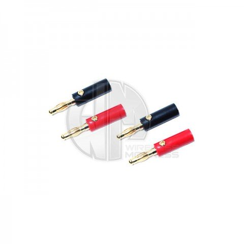 Logic RC 4mm Gold Banana Plugs (2 Pairs) - FS-BAN04-02
