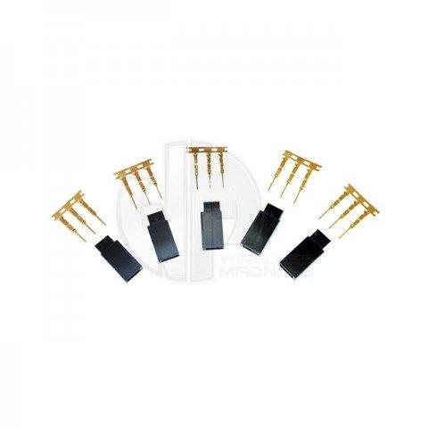 Logic RC Futaba Female Socket Set with Gold Pins (5 Pack) - FS-FUTF-05