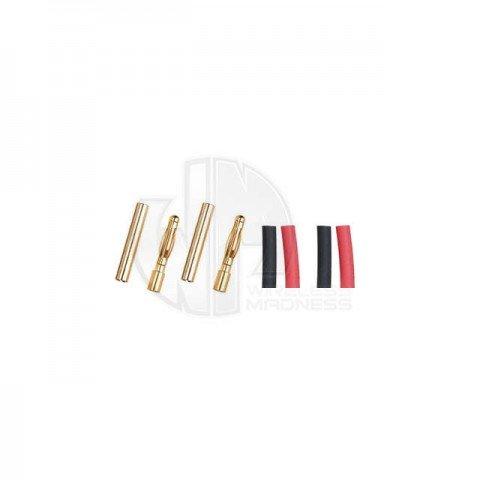 Logic RC 2.0mm Gold Connector with Heat Shrink (2 Pairs) - FS-GC02-02