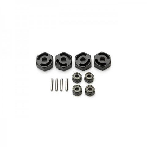 HPI Hex Wheel Adapter with Pin and Nut (Set of 4) - HPI-85003