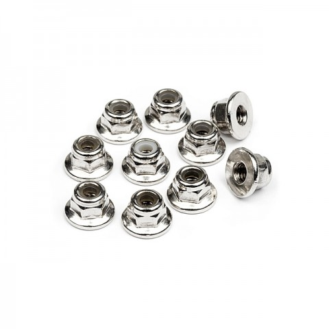 HPI Flanged Lock Nut M3 (Pack of 10 Nuts) - 103671
