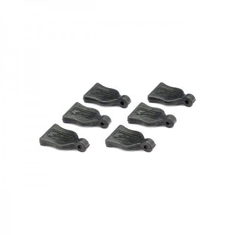 Absima Black Pin Grip for Body Clips (Pack of 6 Grips) - 2440010