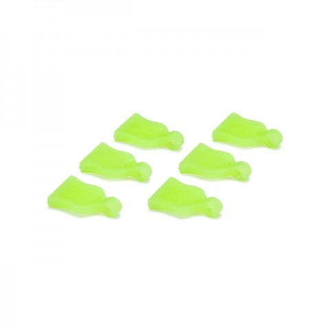 Absima Green Pin Grip for Body Clips (Pack of 6 Grips) - 2440011