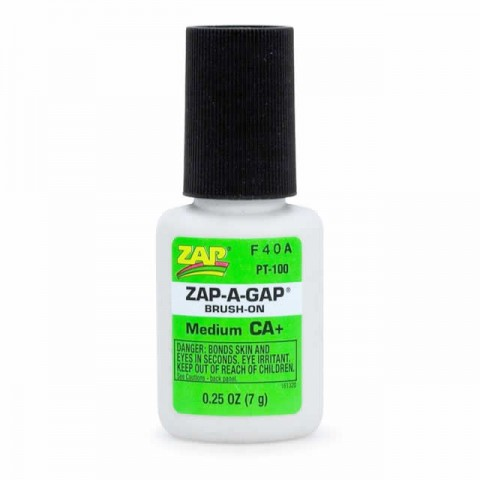 ZAP-A-Gap PT100 CA+ Brush-On 1/4oz Glue (Medium) - 5525638