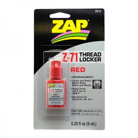ZAP PT71 Permanent RED Thread Locker 0.2oz - 5525738