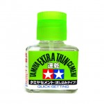 Tamiya Extra Thin Liquid Cement Adhesive Quick Set for Plastic Hobby Kits (40ml) - 87182