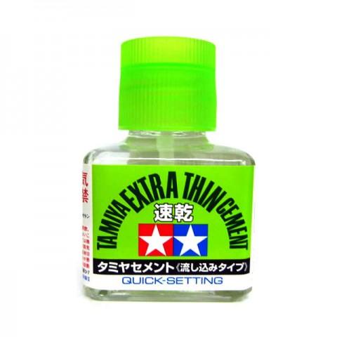 Tamiya Extra Thin Liquid Cement Adhesive Quick Set for Plastic Hobby Kits (40ml) - 87182