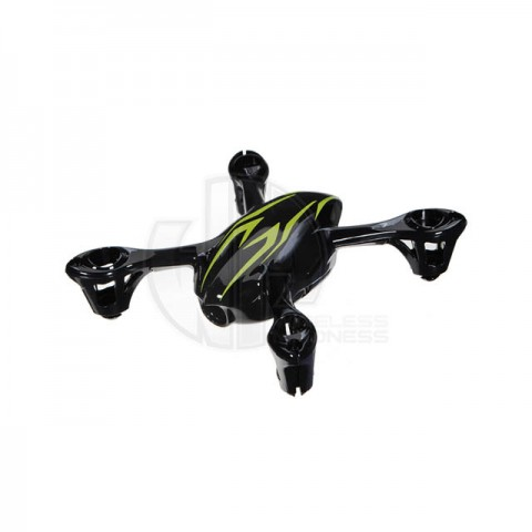 Hubsan X4C Camera Quad Copter Bodyshell Canopy (Black/Green) - H107-A21BG