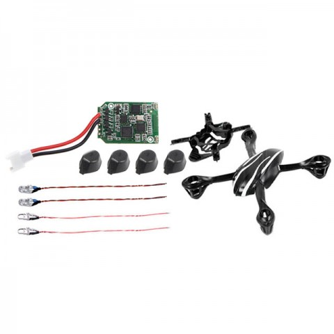 Hubsan X4L Quad Copter Spares Pack Main Board, Canopy, Rubber Feet and LED Lights - H107LSPARES