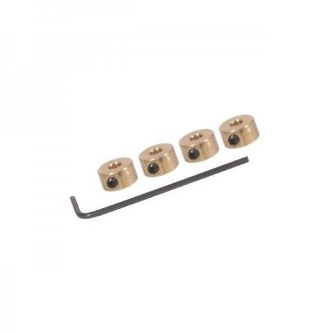 FlightLine Wheel collets 12swg 2.6mm with Grub Screws and Allen Key (Pack of 4) - HFL4502