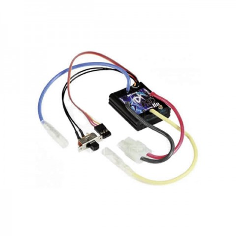 Mtroniks Tio Storm 19T Waterproof Brushed ESC LiPo Compatible Speed Controller - TIOSTORM19