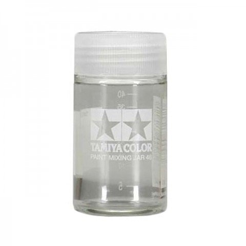 Tamiya Large 46ml Empty Paint Mixing Jar with Measuring Marker - 81042