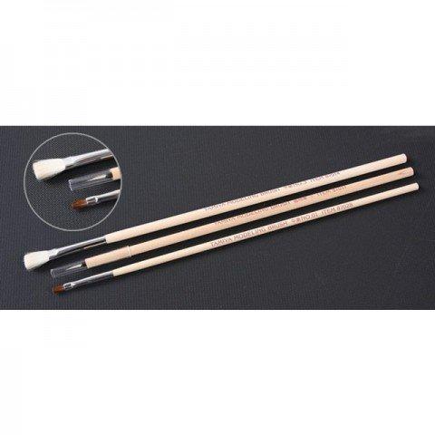 Tamiya Modelling Basic Paint Brush (Set of 3 Brushes) - 87066