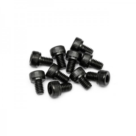 HPI Cap Head Screw M4x6mm with 3mm Hex Socket (Pack of 10 Screws) - 94502