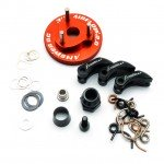 Answer RC 1/8th Clutch Set with Alloy Shoes, Flywheel and Springs - ANSCS4004-AL