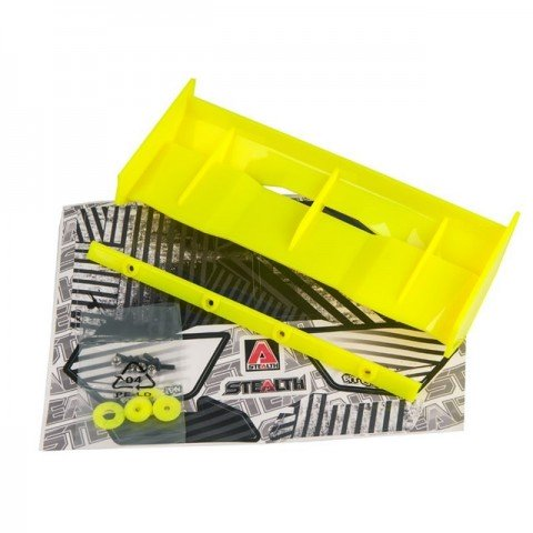 Bittydesign Stealth 1/8 Buggy Wing with Wickerbill (Yellow) - BDW-STHY