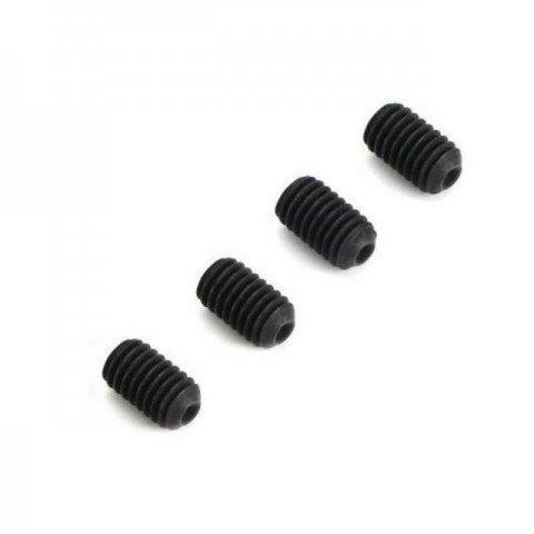 Dubro Socket Set Grub Screw 3mm x 5mm (Pack of 4 Screws) - DB2169