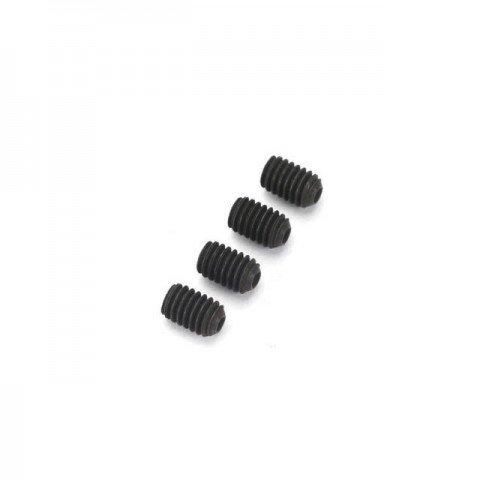 Dubro Socket Set Grub Screw 4mm x 6mm (Pack of 4 Screws) - DB2171
