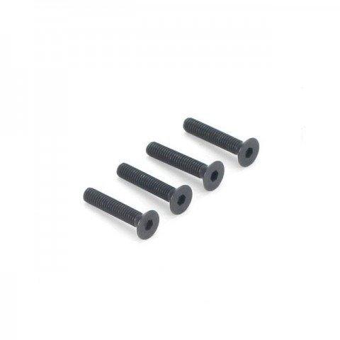 Dubro 3mm x 16mm Flat Head Countersunk Socket Screw (Pack of 4 Screws) - DB2290