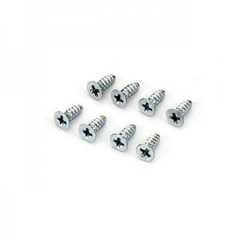 Dubro 3mm x 12mm Flat Head Self-Tapping Screw (Pack of 8 Screws) - DB2298