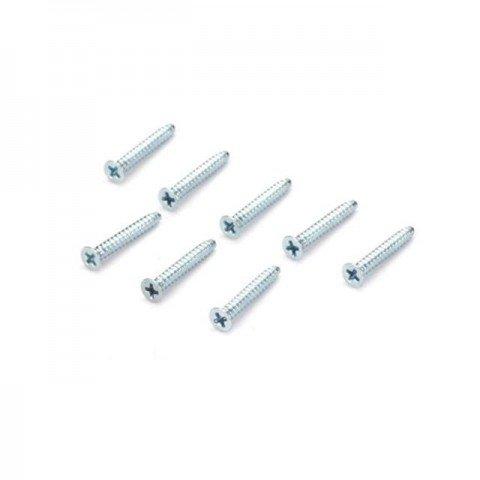 Dubro 3mm x 20mm Flat Head Self-Tapping Screw (Pack of 8 Screws) - DB2299