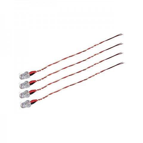 Hubsan X4L, X4C, X4 CHD and FPV Mini Quad Copter LED Light Set (Pack of 4 Red Lights) - H107C-A33
