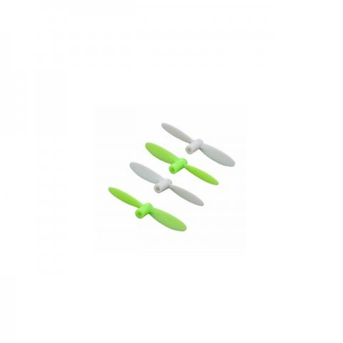 Hubsan Q4 Nano Mini Quad Copter Propellers Complete Set of Spare Blades (Green/White) - H111-05G