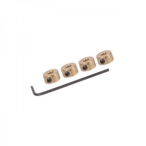 FlightLine Wheel collets 10swg 3mm with Grub Screws and Allen Key (Pack of 4) - HFL4503