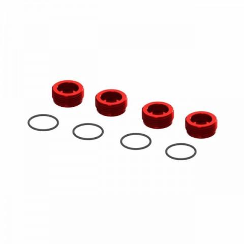 Arrma Aluminium Front Hub Nut with O-Rings (Pack of 4) - ARA320467