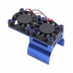 Fastrax Blue Aluminium Twin Fan Motor Heatsink Unit - FAST36-1