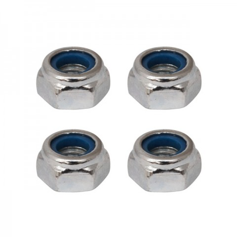 Fastrax M3 Silver Nyloc Nut (Pack of 4 Nuts) - FASTM3