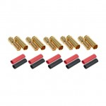 Radient 5mm Gold Bullet Connector with Heat Shrink (5 Pairs) - RDNAC010092