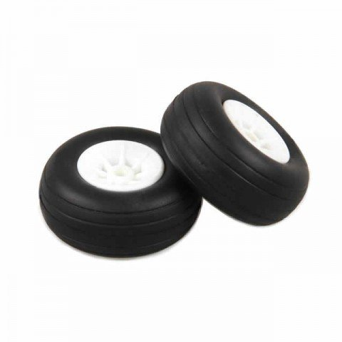 J Perkins 1.1/2-inch (37mm) RC Plane White Wheels (Pack of 2) - 5507109