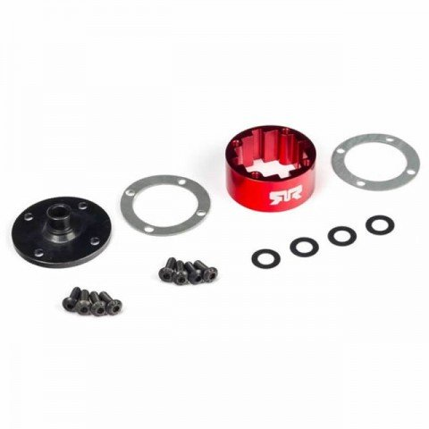 Arrma 6S BLX Metal Differential Case (Red) - ARA220050