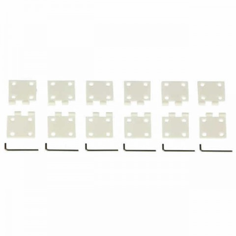 J Perkins Large Nylon Pin Hinge 16x34mm (Pack of 6 Hinges) - JPD5507982