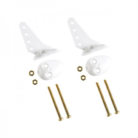 J Perkins Small Control Horn with Nuts and 21mm Bolts (Pack of 2 Horns) - JPD5508030