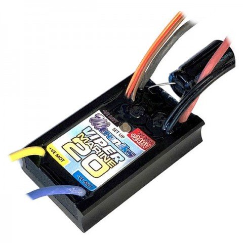 Mtroniks Viper Marine 20 HV Brushed Electronic Speed Controller Waterproof ESC - MARINE20HV