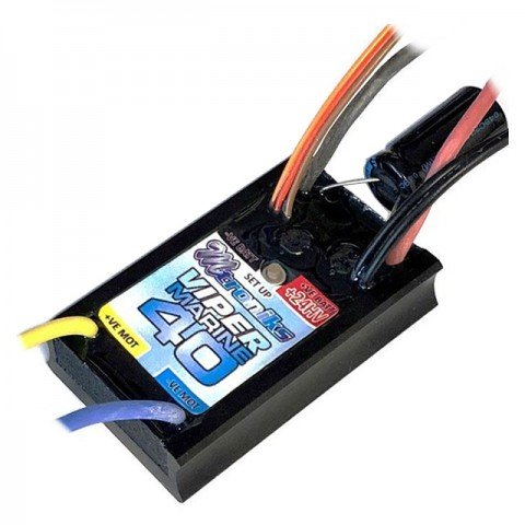 Mtroniks Viper Marine 40 HV Brushed Electronic Speed Controller Waterproof ESC - MARINE40HV