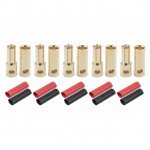 Radient 5.5mm Gold Bullet Connector with Heat Shrink (5 Pairs) - RDNAC010094