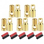 Radient 6mm Gold Bullet Connector with Heat Shrink (5 Pairs) - RDNAC010096