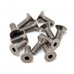 Team Losi Racing Titanium Front/Centre/Rear Transmission Screw Set (Pack of 12 Screws) - TLR6200