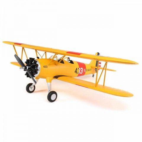 E-flite PT-17 1.1m Electric Biplane with AS3X and SAFE Technology (Bind-N-Fly Basic) - EFL3350