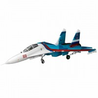 E-flite SU-30 Twin 70mm EDF Ducted Fan 1.1m Jet Plane with AS3X & SAFE Technology (BNF Basic) - EFL01050