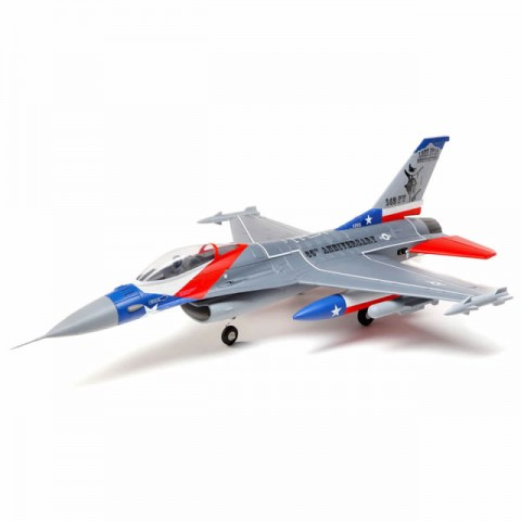 E-flite F-16 Falcon 64mm EDF Ducted Fan Jet 729mm with AS3X and SAFE (BNF Basic) - EFL9850