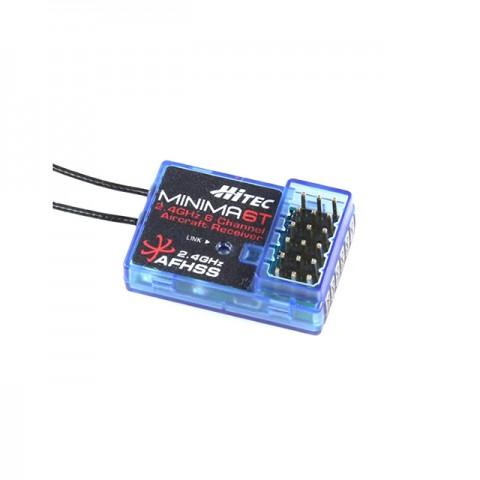 Hitec Minima 6T Top Port 6 Channel 2.4GHz AFHSS Micro Receiver (26610) - 2226600
