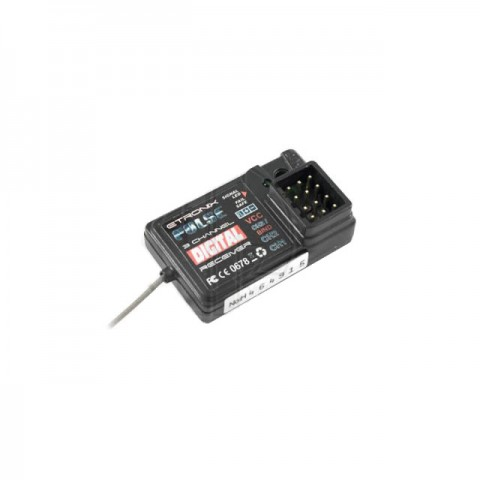 Etronix Pulse GFSK 3 Channel 2.4Ghz Receiver for use with ET1060 Transmitter - ET1095