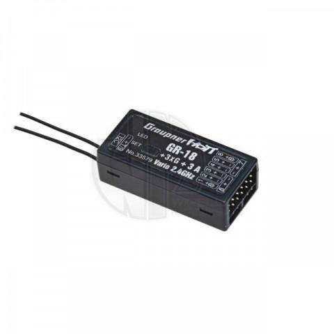 Graupner GR-18+3xG+3A+Vario HoTT 9-Channel 2.4Ghz Receiver - P-33579