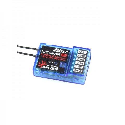 Hitec Minima 6E End Port 6 Channel 2.4Ghz AFHSS Micro Receiver (26612) - 2226595