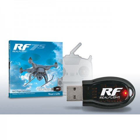 Great Planes RealFlight RF 7.5 RC Simulator with Wireless USB Interface for SLT Compatible Transmitters - GPMZ4534